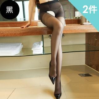 【XOXOXO】秘密情人薄透開襠絲襪(黑色買1送1件超值2件組)