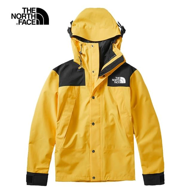 【The North Face】經典ICON-The North Face北面男女款黃色1990MountainJacket衝鋒衣|4R5170M