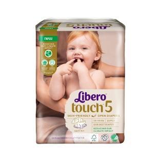 【麗貝樂】Touch嬰兒紙尿褲5號(L-22片x8包-箱購)