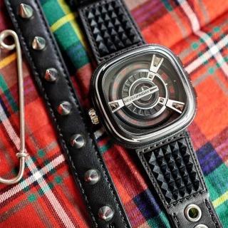 【SEVENFRIDAY】限量龐克工藝自動上鍊機械錶-黑/48mm(M1-04)