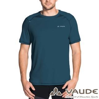 【VAUDE】男款輕量快乾透氣圓領短袖T恤(VA-40957海藍/登山/戶外/旅遊/休閒日常/運動)