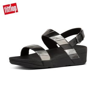 【FitFlop】LOTTIE RAINBOW BACK-STRAP SANDALS 多彩金屬光後帶涼鞋-女(黑色)