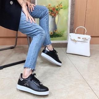 【童鞋城堡】金屬扣皮面休閒鞋 Kanahei卡娜赫拉(KI8322-黑)