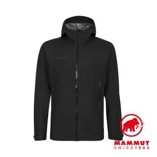 【Mammut 長毛象】Convey Tour HS Hooded Jacket GTX防風防水連帽外套 黑色 男款 #1010-27840