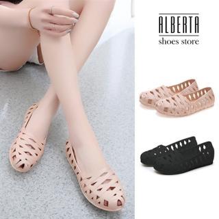 【Alberta】防潑水材質 交叉編織紋 透氣舒適好穿拖懶人鞋 休閒鞋 雨鞋