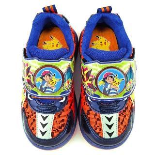 【童鞋城堡】神奇寶貝-寶可夢 中童 寶可夢電燈透氣運動鞋(PA5270-藍)