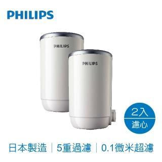 【Philips 飛利浦】5重複合濾芯WP3922龍頭淨水器用(2入)