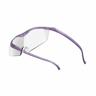 【Hazuki】日本Hazuki葉月透明眼鏡式放大鏡1.32倍大鏡片(亮紫)