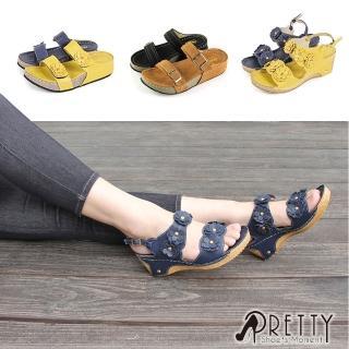 【Pretty】MIT人氣款舒適厚底楔型拖鞋/涼鞋(共7款)