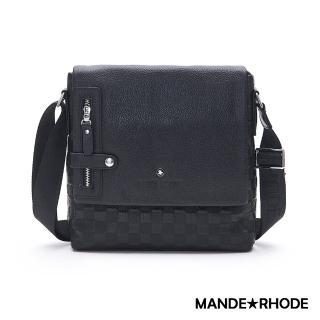 【MANDE RHODE 曼德羅德】巴弗洛-真皮訂製掀蓋斜背包(X2279)