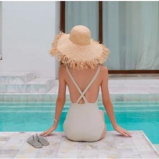 【SeasonsBikini】泳衣泳裝美背交叉連身泳裝bikini -613(泳衣泳裝美背交叉連身泳裝)