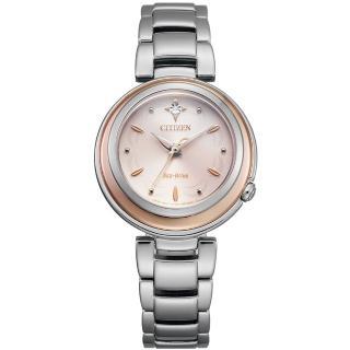 【CITIZEN 星辰】L系列光動能璀璨真鑽腕錶-30mm(EM0589-88X)