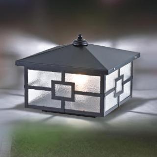 【大巨光】台製現代風2燈防水門柱燈_E27/LED(LW-09-5933)