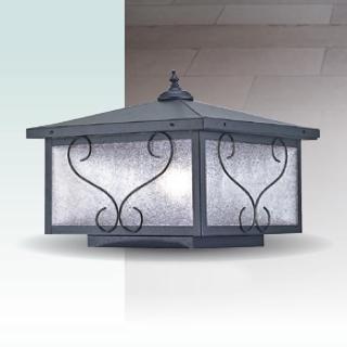 【大巨光】台製現代風1燈防水門柱燈_E27/LED(LW-09-5936)