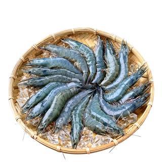 【鮮綠生活】無毒野放活凍超大白蝦(600g ±10%  約 24-30尾/盒 共4盒-凍)