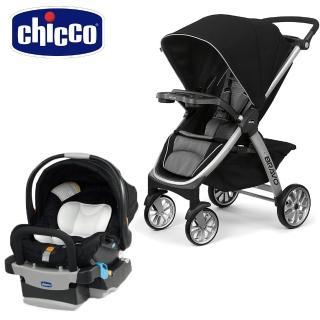【Chicco】Bravo極致完美手推車Air版-星塵黑+KeyFit 手提汽座