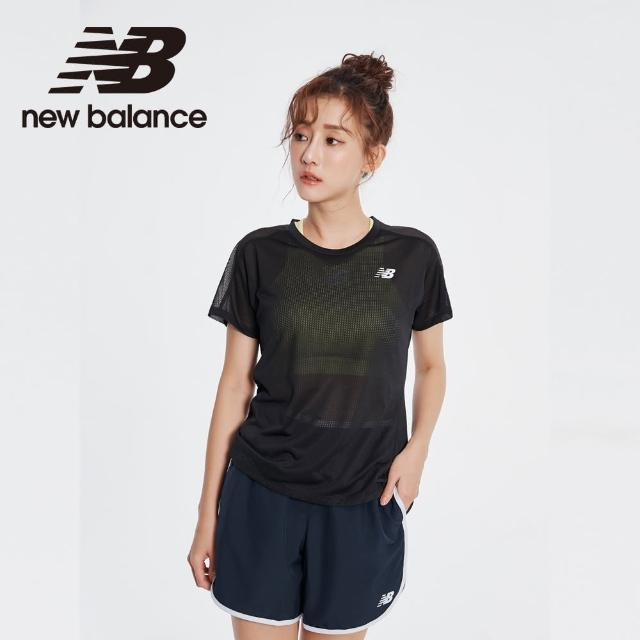 【NEW BALANCE】NB ICE X 涼感透膚細節短袖上衣_AWT01234BK_女性_黑色