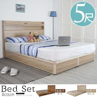 【Homelike】安樹日式床組-雙人5尺(二色)