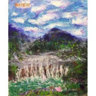 【豐財藝術】River of life生命之泉能量開運真跡油畫(印象派油畫藝術收藏首選)
