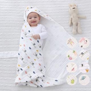 【橘魔法】春秋夏薄款水洗純棉紗布新生兒包被 包巾(新生兒 嬰兒 寶寶包巾 抱被 Baby magic 現貨)