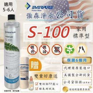 【Sueno 強森淨水】S100濾心(強森淨水公司貨 EVERPURE S-100 雙重贈: 抗菌PP濾心+餘氯測試液)