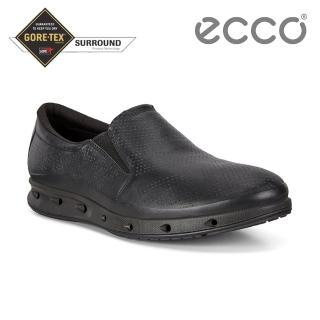 【ecco】COOL M 360度環繞防水休閒運動鞋 男鞋(黑色 83135411001)