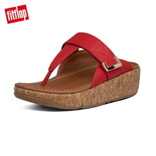 【FitFlop】REMI ADJUSTABLE LEATHER TOE-THONGS 魔鬼氈可調整夾腳涼鞋-女(紅色)