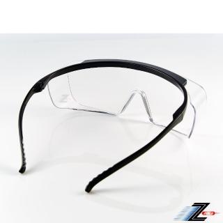 【Z-POLS】防霧升級款M28 全方位防護輕量設計透明抗UV400防塵防飛沫防疫眼鏡(可直接配戴也可包覆度數眼鏡)