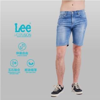 【Lee】901 男牛仔短褲 合身版