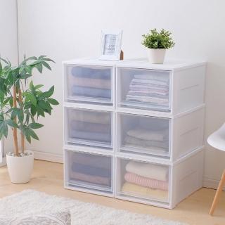【IRIS】3入透明加大抽屜式收納箱 NSBC500D(組合式收納箱可堆疊/可疊加/加大收納/)