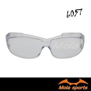 【MOLA】摩拉護目鏡運動安全眼鏡近視眼鏡可戴防飛沫防風防沙防塵男女 SA-6057(透明鏡片 防疫)