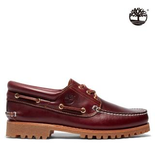 【Timberland】男款勃根紅經典三孔帆船鞋(50009648)