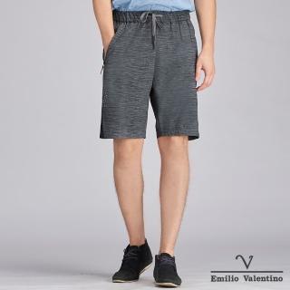 【Emilio Valentino 范倫鐵諾】時尚俐落撞色拼接運動短褲_綠/黑(15-C3906)