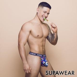 【SUPAWEAR】趣味系列-叭噗叭噗超彈性透氣型男後空褲(藍色)
