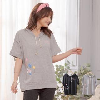 【衣心衣意】日系卡哇伊兔子汽球連帽上衣(黑色-灰色PB4A3341)