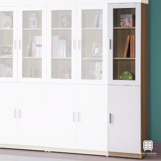 【Hampton 漢汀堡】諾姆北歐1.3尺二門書櫃-右開(一般地區免運費/書櫃/置物櫃)