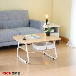 【RICHOME】巴克80CM60CM茶几桌/沙發邊桌/咖啡桌/收納桌(台灣製)
