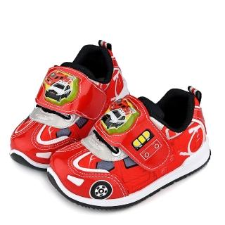 【童鞋城堡】警車LED燈運動鞋 Tomica多美小汽車(TM7724-紅)