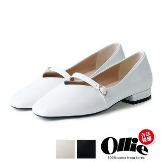 【OLLIE】韓國連線/版型偏小。日系甜美簡約素面舒適平底包鞋(72-730/現貨+預購)
