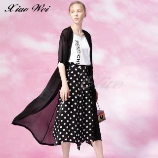 【CHENG DA】專櫃精品春夏款時尚長版罩衫外套(NO.511339)