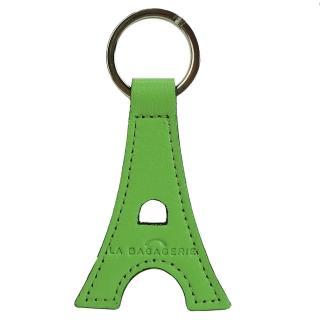 【LA BAGAGERIE】牛皮鐵塔造型鑰匙圈(蘋果綠)