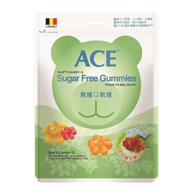 【ACE】量販包軟糖240g(水果Q/字母Q/無糖Q)