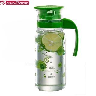 【Tiamo】1215玻璃冷水壺 1200ml-花草綠(HG2108)