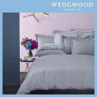 【WEDGWOOD】300織長纖棉緹花被套枕套組-艾瑞斯(雙人)