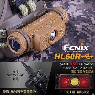 【Fenix】HL60R 雙光源可充電頭燈(#HL60R)