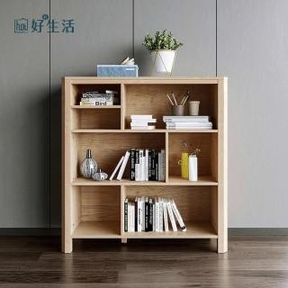 【hoi!】林氏木業北歐簡約設計矮書櫃HS1X-原木色/