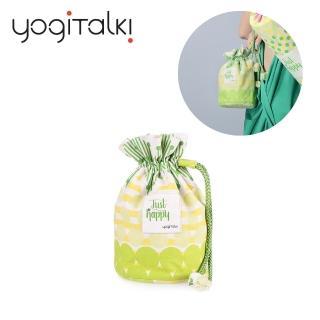 【yogiTalki】爵士.樂/綠樂曲 日本棉布荷葉夾棉收納袋