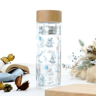 【懶散兔與啾先生】魔幻馬戲團雙層玻璃隨手瓶