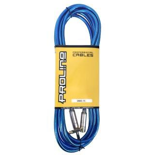 【JYC Music】嚴選PRO LINE編織亮彩紋低雜訊導線-藍色/4.5米/低雜訊/高傳導L接頭(藍色導線)