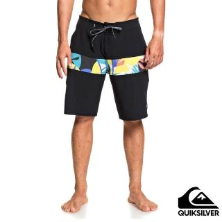 【Quiksilver】男款 男泳裝 衝浪褲 褲子 休閒短褲 MICRODOSE BEACHSHORT 20(黑)
